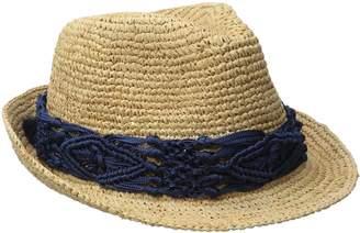 Physician Endorsed Women's Malia Crochet Raffia Hat with Macrame Trim
