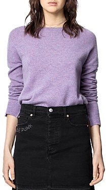 Zadig & Voltaire Cashmere Pullover Elbow-Patch Sweater
