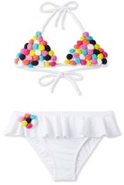 Stella Cove Girl's Pompom Two-Piece Swimsuit