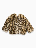 Splendid Baby Girl Leopard Faux Fur Hooded Jacket