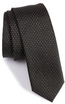 BOSS Men's Metallic Dot Silk Blend Tie