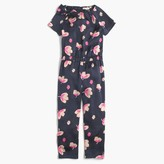 J.Crew Girls' jumpsuit in peach blossom print