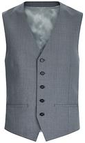 Jaeger Textured Wool Slim Fit Waistcoat, Air Grey