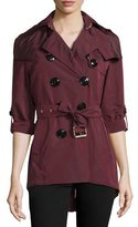Burberry Knightsdale Hooded Relaxed Trenchcoat, Deep Claret