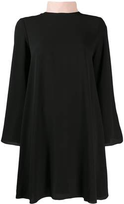 Blumarine Be Tie Neck Shift Dress