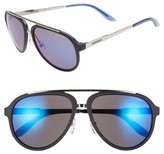 Carrera Men's Eyewear 58Mm Aviator Sunglasses - Dark Blue/ Blue Mirror