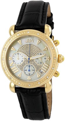 JBW Women's Victory Diamond Embossed Leather Strap Watch, 37mm - 0.16 ctw
