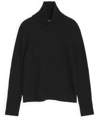Arket Shawl Collar Wool Jumper