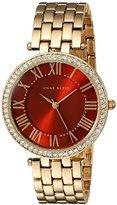 Anne Klein Women's AK/2230BYGB Swarovski Crystal Accented Gold-Tone Bracelet Watch
