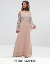 Maya Petite All Over Embellished Top Maxi Dress