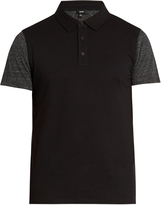 Vince Short-sleeved cotton-blend polo shirt