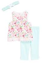 Little Me Infant Girl's Floral Print Tunic, Leggings & Headband