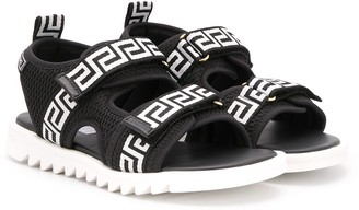Versace Greek Key print sandals