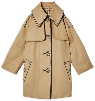 Burberry Kids Trompe l'Oeil Cotton Swing Coat (3-12 Years)