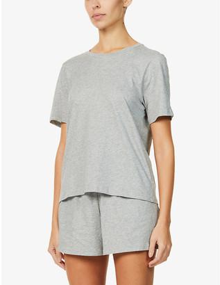 Skin Cady organic cotton-jersey pyjama set