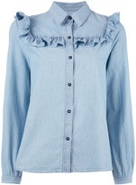 A.P.C. frill shirt - women - Cotton - 38
