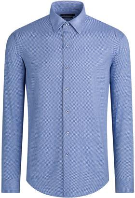 Bugatchi Men's Geometric-Print OoohCotton Tech Sport Shirt