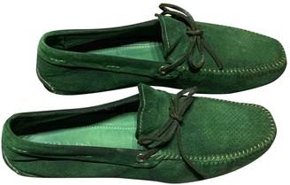 Prada Green Suede Flats