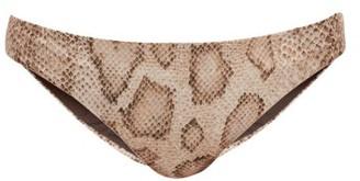 Mara Hoffman Dori Snake-print Bikini Briefs - Cream Print