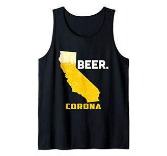 State CA California Drinking Home Love Beer Corona City Tank Top