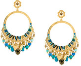 Gas Bijoux embellished hoop earrings
