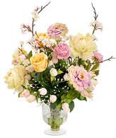 One Kings Lane Cherry Blossom Faux Bouquet w/Vase