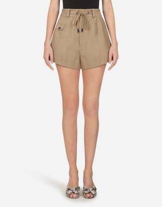 Dolce & Gabbana Panama Shorts With Drawstring