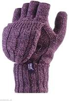 Heat Holders Women's Thermal Converter FINGERLESS Cable Knit 2.3 tog Gloves / Mittens