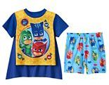 Toddler Boy PJ Masks Catboy, Gekko & Owlette 3-pc. Cape Pajama Set