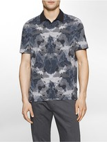 Calvin Klein Classic Fit Ink Blot Stripe Polo Shirt