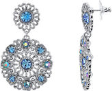 JCPenney 1928 Jewelry Blue Stone Round Drop Earrings