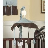 JoJo Designs Blue and Brown Hotel Musical Baby Crib Mobile by Sweet