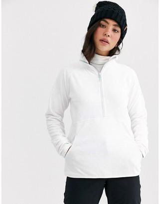 Roxy Snow Cascade 1/4 Zip fleece in white