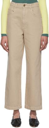 Nanushka Taupe Marfa Straight Leg Jeans