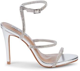 Steve Madden Ulani Embellished Metallic Stiletto Sandals
