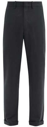 Caruso Turned-up Cuff Wool-twill Trousers - Grey