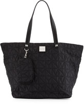 Nicole Miller City Life Quilted Tote Bag, Black