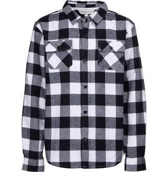 Kangaroo Poo Boys Buffalo Yarn Dyed Checked Long Sleeve Shirt Black/White