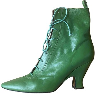 Marc Jacobs Green Leather Ankle boots