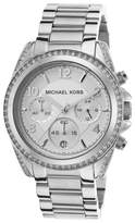 Michael Kors MK5165 Stainless Steel wDiamonds Silver Dial 38mm Womens Watch