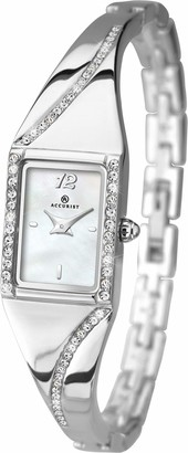 Accurist Women's Quartz Watch with Mother of Pearl Dial Analogue Display and Silver Bracelet 8021.01