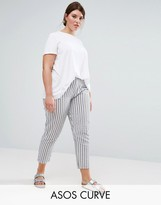 Asos Striped Peg Pants in Seersucker
