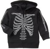 Black Skeleton Harvest Zip-Up Hoodie - Infant & Toddler