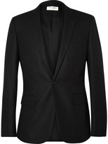 Saint Laurent - Grey Slim-fit Pinstriped Wool Blazer