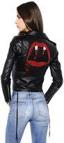 Saint Laurent Blood Luster Biker Leather Jacket