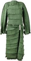 Loewe pleated midi dress - women - Cotton/Polyester - 36