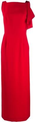Emporio Armani V-Back Long Dress