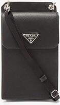 Prada - Saffiano Leather Iphone Case - Mens - Black