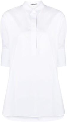 Jil Sander Short-Sleeve Cotton Shirt