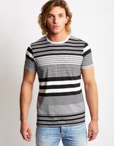 Edwin Mixed Striped T-Shirt Black